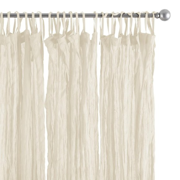 Cotton Crinkle Voile Curtains Set Of 2